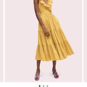 NWT Kate Spade Poplin ruffle tiered dress